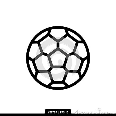 Soccer Ball Icon Vector Illustration Logo Template Stock Photo