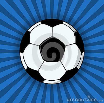 Soccer Ball Illustration On Blue Background