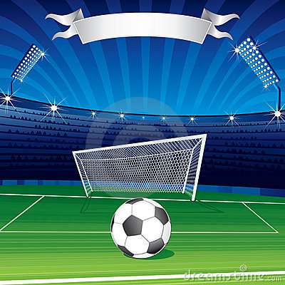 Free Soccer Ball In Stadium Royalty Free Stock Image - 14662246