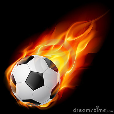 Free Soccer Ball On Fire Stock Photography - 20515632