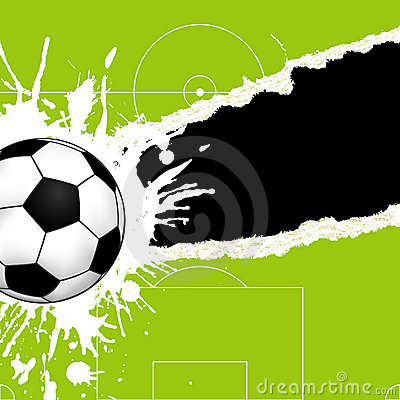 Free Soccer Ball On Torn Paper Royalty Free Stock Image - 14477246
