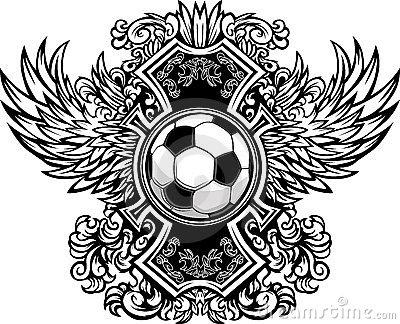 Soccer Ball Ornate Graphic Template