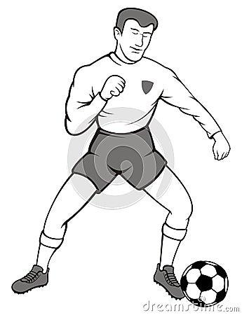 Soccer ball player
