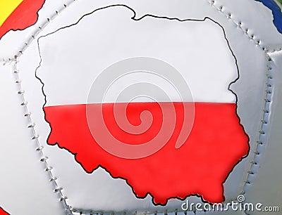 Soccer ball With Poland Flag