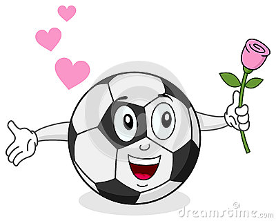 Soccer Ball with Rose Character