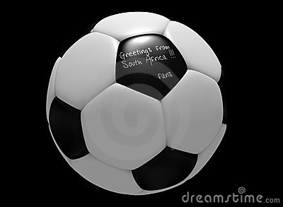 Soccer ball from South Africa World Cup 2010