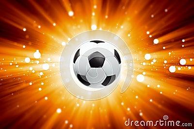 Soccer ball, spotlights
