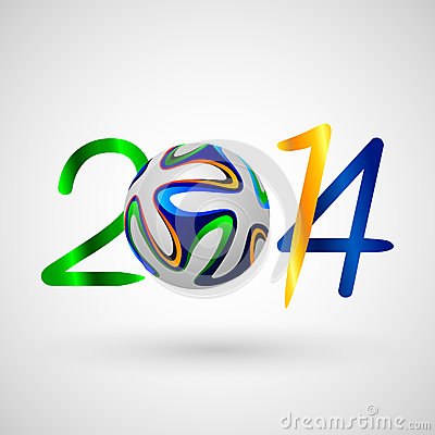 Soccer ball 2014 symbol Editorial Stock Photo
