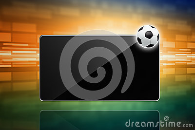 Soccer ball, tablet computer