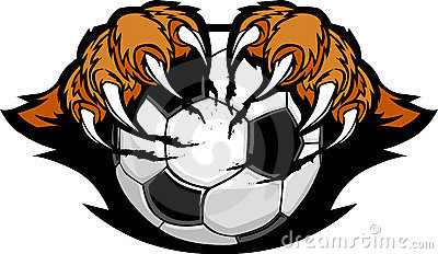 Soccer Ball With Tiger Claws  Image