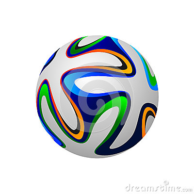 Soccer ball 2014, vector illustration Editorial Image