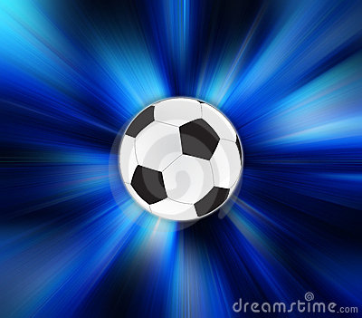 Soccer Ball on zoom effect background