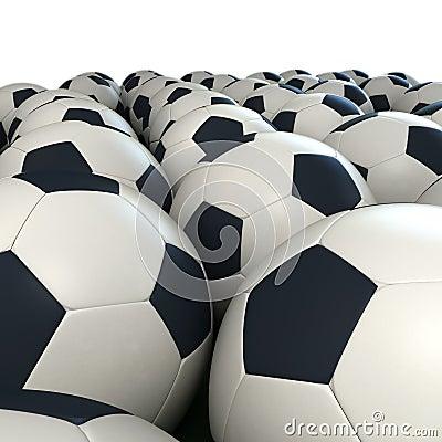 Soccer balls arrangement