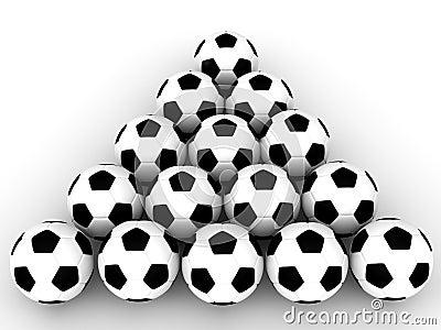 Soccer Balls in formation