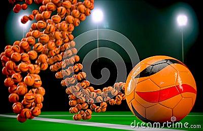 Soccer balls at night 2