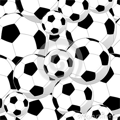 Soccer Balls Seamless Pattern Stock Images - Image: 25474344