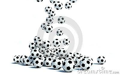 Soccer Balls on white background