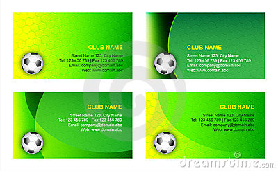 Soccer business card template