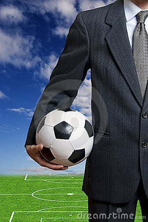 Soccer business concept