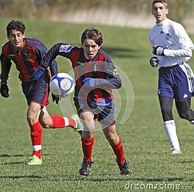 Soccer canadian quebec pursuit Editorial Photo