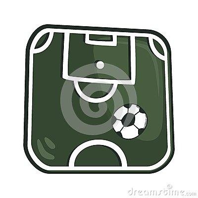 Soccer cartoon theme Vector Illustration