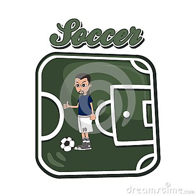 Soccer cartoon theme Vector Illustration