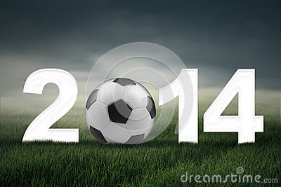 Soccer championship of 2014 concept