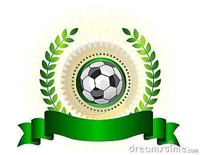 Soccer championship logo shield