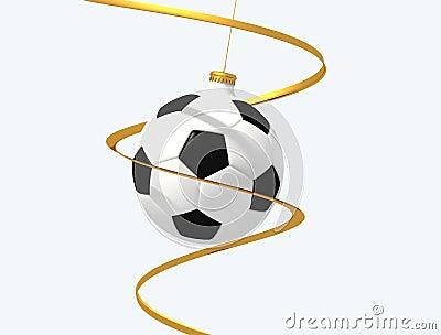 Soccer christmas ball