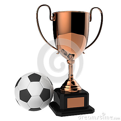 Soccer Copper award trophy.