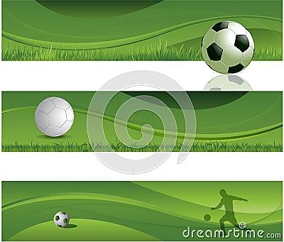 Soccer design banners