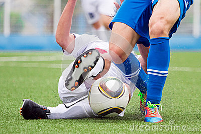 Soccer duel Editorial Stock Photo