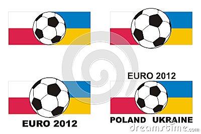 Soccer - Euro 2012 Poland Ukraine vector Editorial Photography