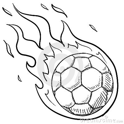 Soccer Excitement Sketch Stock Images Image 23158354
