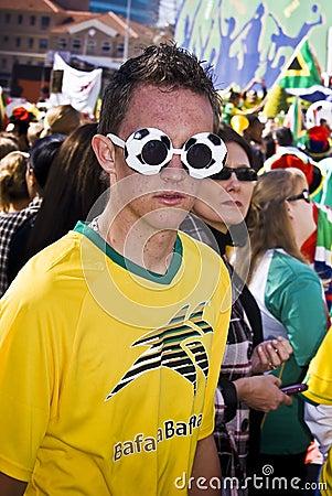 Soccer Fan in Fancy Dress Getup Editorial Photography