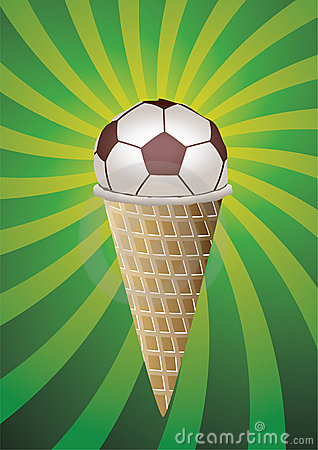 Soccer fan icecream