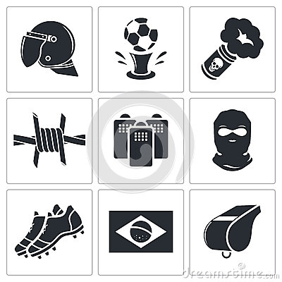 Free Soccer Fans Ultras Icon Collection Royalty Free Stock Photos - 42525538
