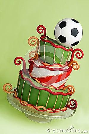 Free Soccer Fantasy Cake Royalty Free Stock Image - 20335516