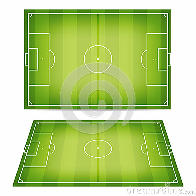 Free Soccer Field Collection. Football Fields. Top View And Perspective View Royalty Free Stock Image - 95111806