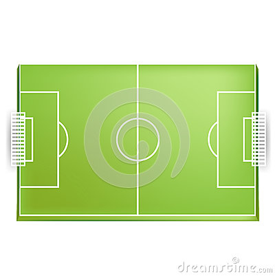 Soccer field or football field from above view