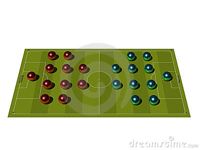 Soccer Field with the tactical scheme.