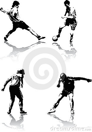 Free Soccer Figures Royalty Free Stock Photo - 2736615