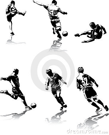 Free Soccer Figures 3 Stock Photos - 3002383