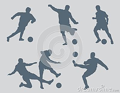 Soccer Figures Vector 2