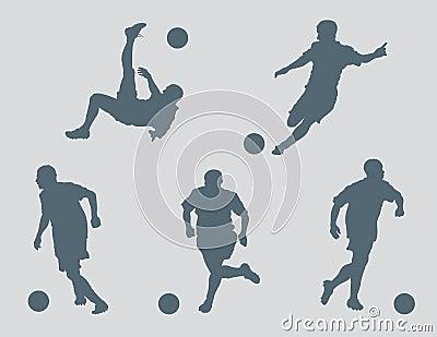 Soccer Figures Vector
