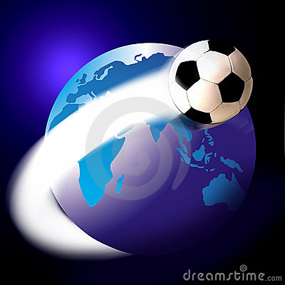 Free Soccer Football And The World Or Globe Royalty Free Stock Photo - 1417315