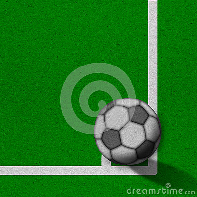 Soccer - football field with lines on grunge paper
