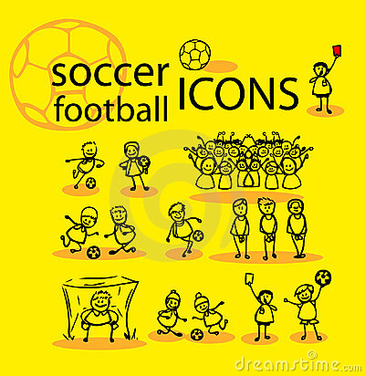 Soccer, football icons set