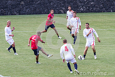 Soccer game Editorial Image