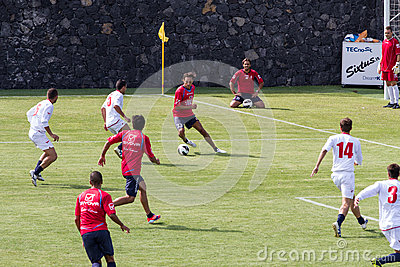 Soccer game Editorial Stock Photo